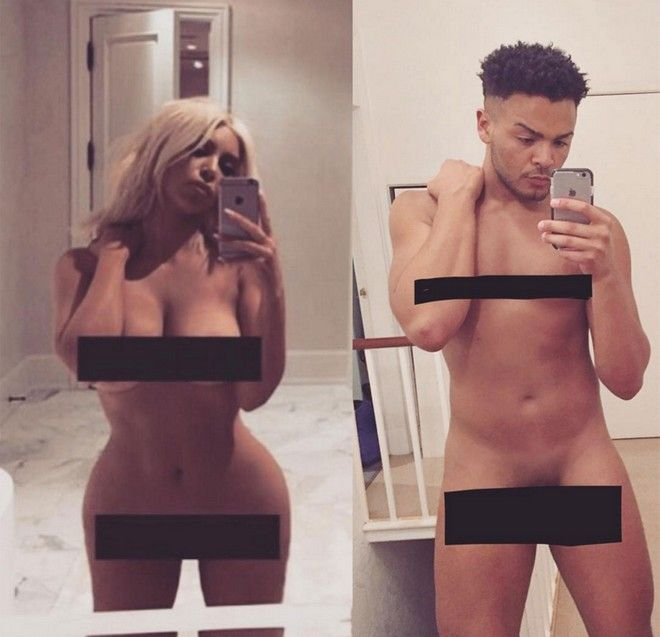 Πετάνε τα ρούχα τους και αντιγράφουν την γυμνή selfie της Kim Kardashian