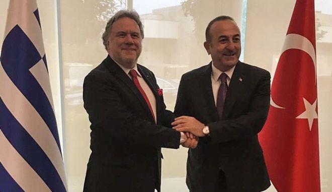 Συνάντηση του υπουργού Εξωτερικών, Γιώργου Κατρούγκαλου  με τον ομόλογό του της Τουρκίας, Mevlut Cavusoglu, στην Αττάλεια