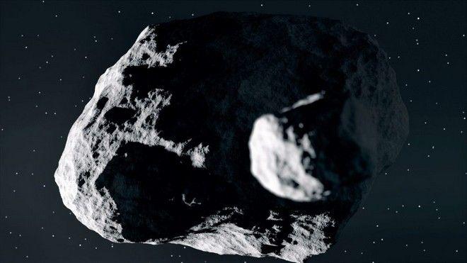 Ο διπλός αστεροειδής Δίδυμος σε καλλιτεχνική απεικόνιση