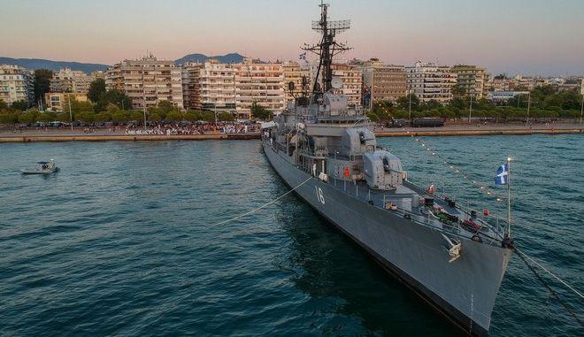 """Το αντιτορπιλικό """"Βέλος"""" στο λιμάνι της Θεσσαλονίκης"""