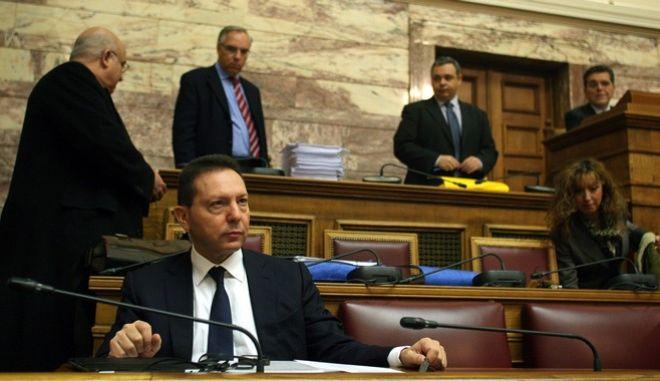 Στιγμιότυπο από την συνεδρίαση της διαρκούς επιτροπής οικονομικών υποθέσεων της βουλής,με θέμα το νομοσχέδιο του Υπουργείου οικονομικών για τον εναιαίο φόρο ακινήτων και άλλες διατάξεις,Σάββατο 14 δεκεμβρίου 2013 (ΕUROKINISSI/ΤΑΤΙΑΝΑ ΜΠΟΛΑΡΗ)
