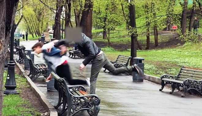 """Pic shows: The man beating the rich kid for offering money to drink his wee.  A cruel, rich kid video maker finally got his just desserts when he approached a man asking him to drink urine for money.  Grisha Mamurin, 16, grandson of Russian billionaire Igor Nekludov, is making sick short films about what desperate people will do for cash.  But he got smashed to the ground when he approached a man sitting on a park bench and offered him 130 GBP to drink his wee on film.  Cocky Grisha, whose videos have had 600,000 hits, felt the full force of the mans right hook and went tumbling over in a park in Moscow, Russia, and then ran off nursing a black eye.  Unrependent he said: """"I wanted to do something interesting for my own channel on YouTube. This project shows what people able to do to make money. I didn't expect such a huge feedback.  """"I can't understand why so many negative comments are under my video. The folk healer  Malahov drank his own urine on a TV show in the federal channel.  """"My parents know about my project. They don't welcome it, but they also don't prohibit me to do this.  """"In the next video you will see a girl who will lick my shoe sole from heel to toe.""""  Others who agreed to be humiliated  are filmed with the footage then posted on YouTube and the internet.  The weird teen has also approached lots of pretty girls trying to bribe them to strip off in public.  A homeless man  in  Gorky Park did agree to drink Grisha's urine, and got paid on the spot for his humiliation.  Grisha is seen peeing into a 200 milliliters jar and giving it to the homeless man. The man takes a sip, spits it out and then drinks it to claim his money.  After approaching several girls he finally gets one to strip down to her panties in a public area with children watching.  The teen's grandpa is Igor Nekludov, the richest businessman in Khabarovsk city located in Khabarovsk Krai in the Far East of Russia.  (ends)"""