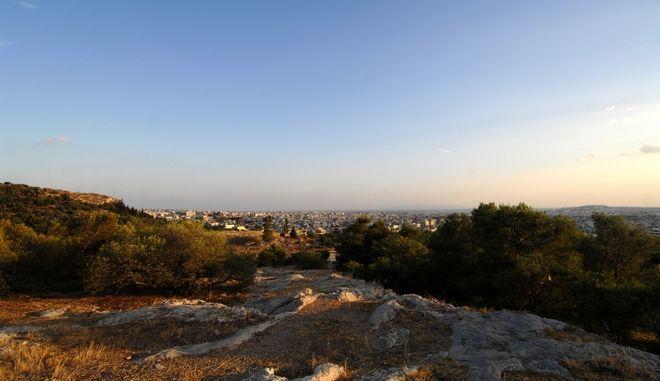Στιγμιότυπο από τον λόφο του Φιλοπάππου