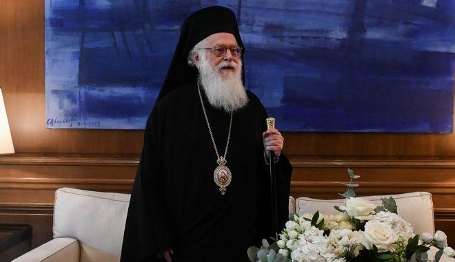 O Αρχιεπίσκοπος Αλβανίας Αναστάσιος.