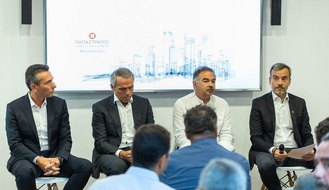 Από αριστερά: Χρήστος Χαρπαντίδης, Δημήτρης Ανδριόπουλος, Νίκος Κομινέας, Κωνσταντίνος Ζέρβας