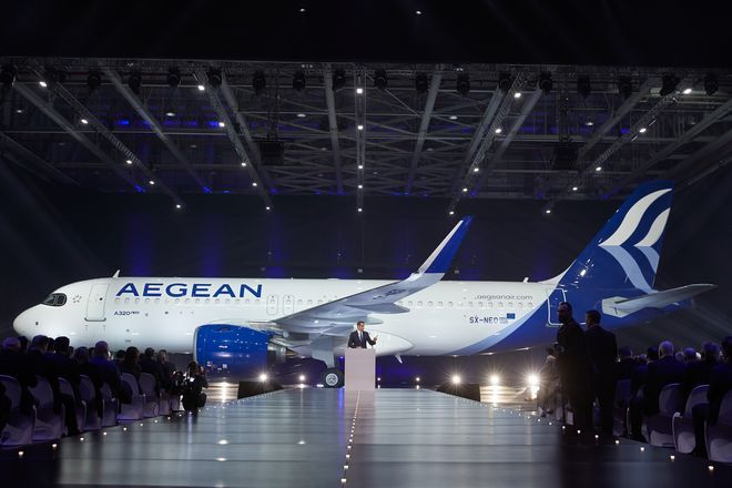 Ομιλία του Κυριάκου Μητσοτάκη στην τελετή παραλαβής των νέων Airbus της Aegean