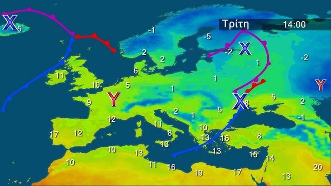 Επιδείνωση του καιρού και βαθμιαία πτώση της θερμοκρασίας