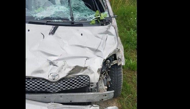 Εικόνα από το τροχαίο δυστύχημα στην Πτολεμαΐδα