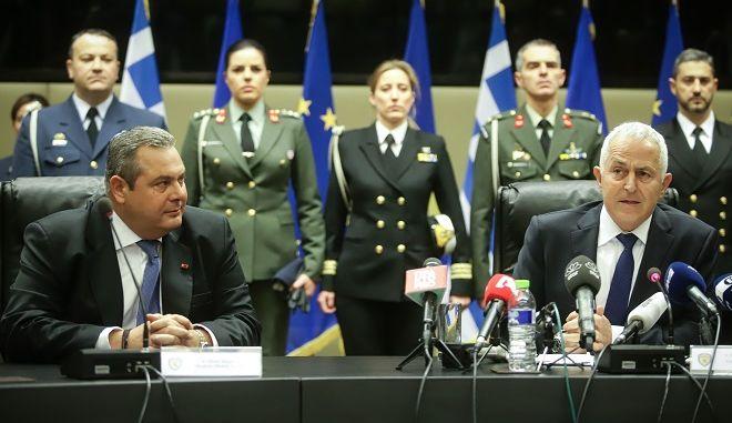 Τελετή παράδοσης - παραλαβής του Υπουργείου Εθνικής Άμυνας την Τρίτη 15 Ιανουαρίου 2019.