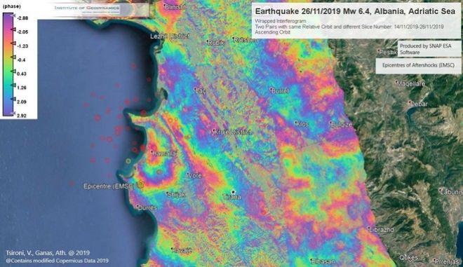 Σεισμός στην Αλβανία: Το έδαφος ανυψώθηκε πάνω από 8 εκατοστά στο Δυρράχιο