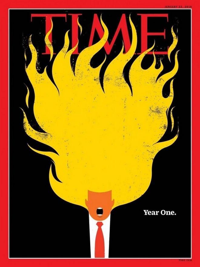 Φλεγόμενος Τραμπ στο νέο αιχμηρό εξώφυλλο του TIME