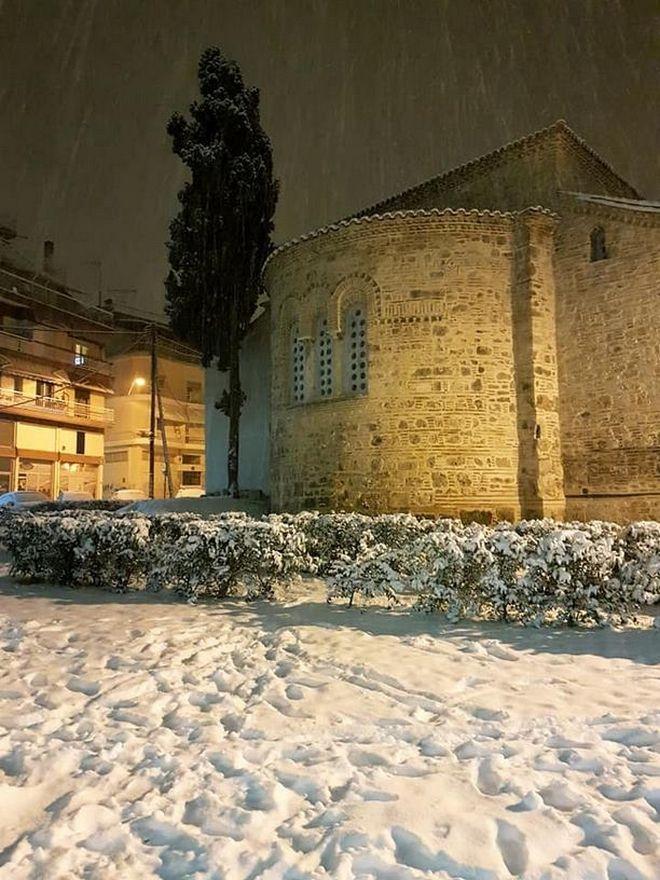 Η χιονισμένη Βέροια