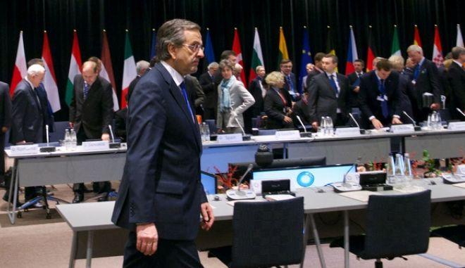 Στιγμιότυπο με τον πρωθυπουργό Αντ. Σαμαρά στην Σύνοδο Κορυφής της Ευρωπαϊκής Ένωσης στο Βίλνιους της Λιθουανίας την Παρασκευή 29 Νοεμβρίου 2013. (EUROKINISSI/ΓΟΥΛΙΕΛΜΟΣ ΑΝΤΩΝΙΟΥ)