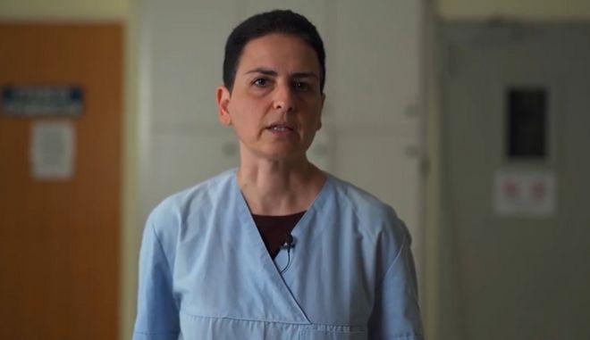 Η κ. Ιωαννίδου σε ένα βίντεο που εξηγεί τις αλλαγές που έχουν γίνει στο νοσοκομείο Ρεθύμνου, με στόχο την βέλτιστη αντιμετώπιση των περιστατικών κορονοϊού