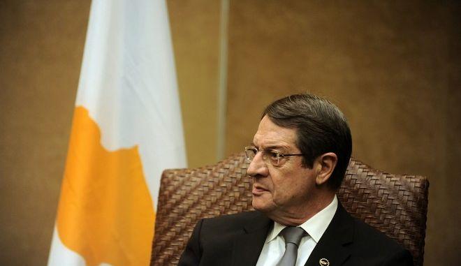 Συνάντηση του Προέδρου της Αραβικής Δημοκρατίας της Αιγύπτου, Abdel Fattah Al-Sisi, του Προέδρου της Κυπριακής Δημοκρατίας,  Νίκου Αναστασιάδη, και του Πρωθυπουργού  Αλέξη Τσίπρα στα πλάισια της τριμερούς συνάντησης Κορυφής την Τετάρτη 9 Δεκεμβρίου 2015, στην Αθήνα. (EUROKINISSI/ΤΑΤΙΑΝΑ ΜΠΟΛΑΡΗ)