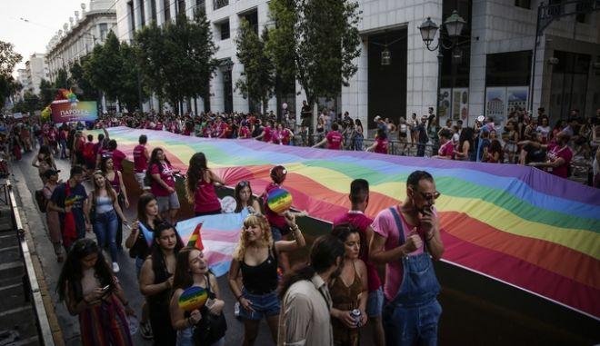 καρέ από το Athens Pride, το Σάββατο 9 Ιουνίου 2018.