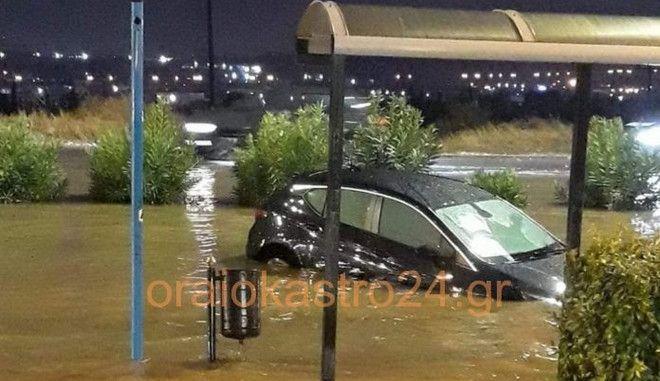Έντονη βροχόπτωση στην Θεσσαλονίκη - Δεκάδες κλήσεις για αντλήσεις υδάτων