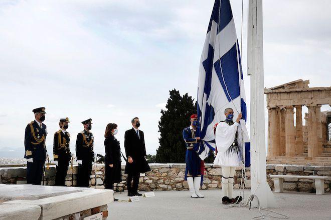Τελετή έπαρσης της σημαίας, 25 Μαρτίου 2021