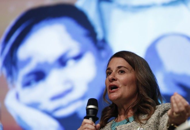 Melinda Gates speaks during the