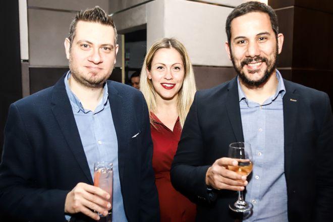 Από αριστερά: Δημήτρης Βάσσος, Μαριλέλλα Αντωνοπούλου, Γρηγόρης Μπάτης