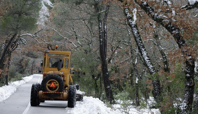 Χιόνια στην Πάρνηθα. Φωτό αρχείου