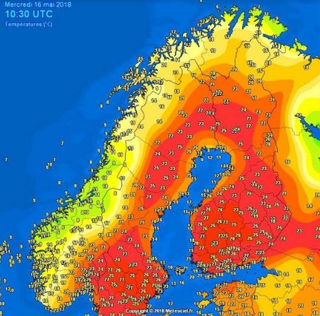 Κύμα ζέστης στη Σουηδία και την Φινλανδία