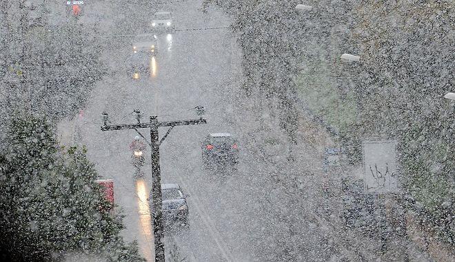 Φωτό αρχείου, με έντονες χιονοπτώσεις και τσουχτερό κρύο