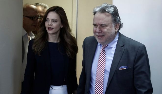 Ο υπουργός Εξωτερικών Γιώργος Κατρούγκαλος και η υπουργός Εργασίας Έφη Αχτσιόγλου