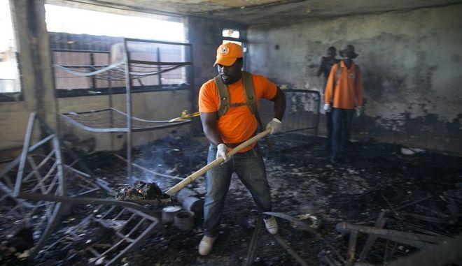 Φωτιά σε ορφανοτροφείο στην Αϊτή