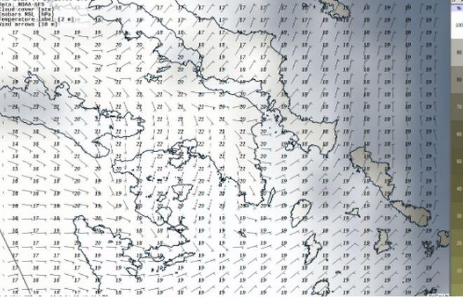 Ήπιος καιρός με τοπικές βροχές την Μ. Πέμπτη - Εξασθένηση νοτιάδων στο Ιόνιο