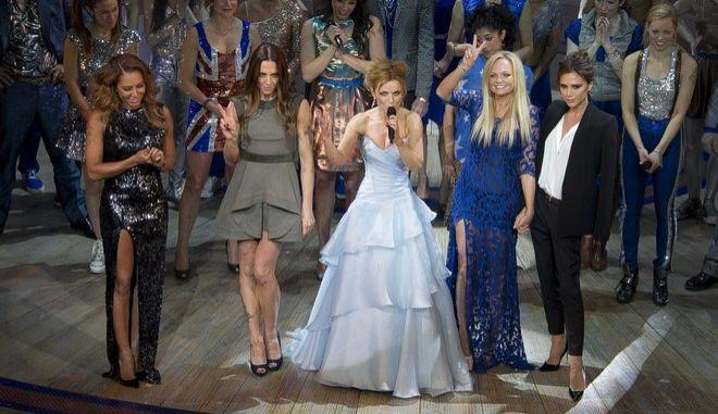 Τα μέλη του δημοφιλούς συγκροτήματος Spice Girls