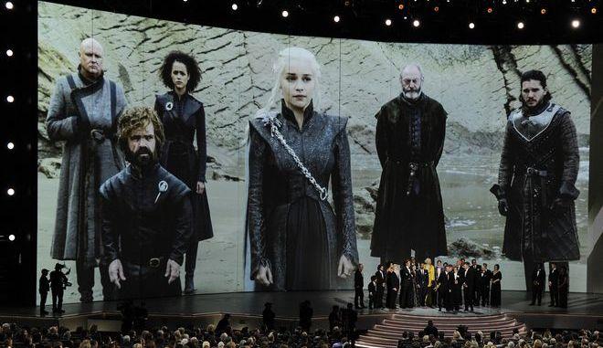 """Οι πρωταγωνιστές του """"Game of Thrones"""" στα Primetime Emmy Awards τον Σεπτέμβριο του 2018."""