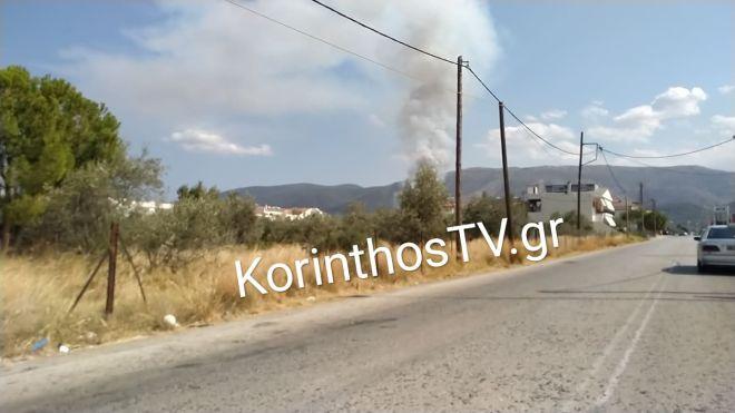 Οριοθετήθηκαν οι φωτιές σε Κορινθία και Αιτωλικό