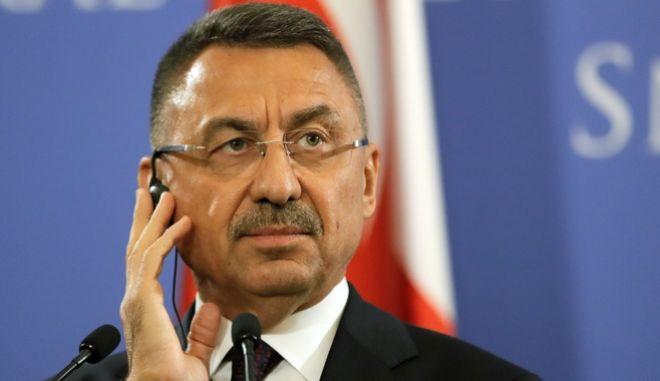 Ο Φουάτ Οκτάι, αντιπρόεδρος της Τουρκικής κυβέρνησης