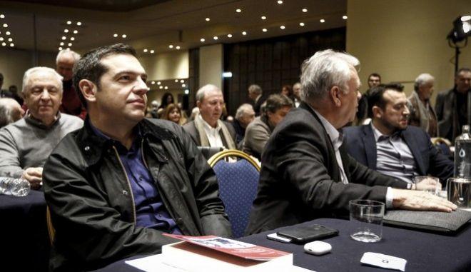 Συνεδρίαση της Κεντρικής Επιτροπής του ΣΥΡΙΖΑ το Σάββατο 20 Ιανουαρίου 2018. (EUROKINISSI/ΓΙΩΡΓΟΣ ΚΟΝΤΑΡΙΝΗΣ)