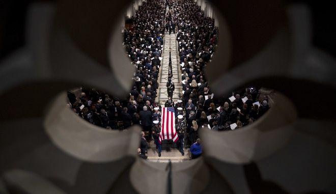 Η κηδεία του Τζορτζ Μπους στην Ουάσινγκτον