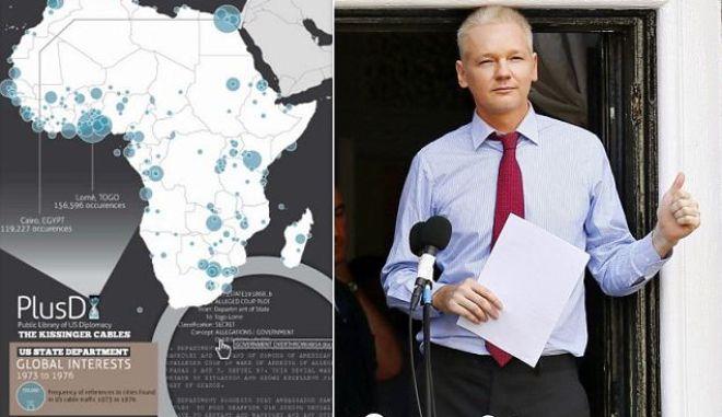 WikiLeaks: Στη δημοσιότητα Αμερικανικά διπλωματικά έγγραφα από τη δεκαετία του '70