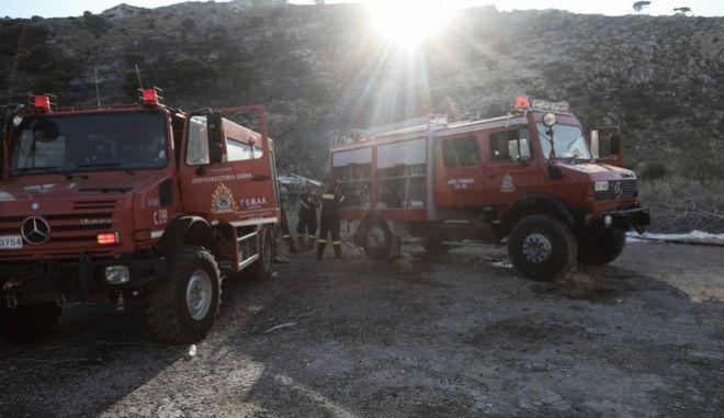 Οχήματα Πυροσβεστικής.