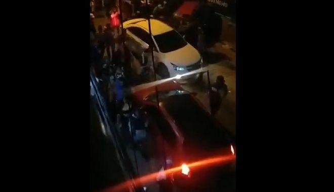 Στιγμιότυπο από το περιστατικό.