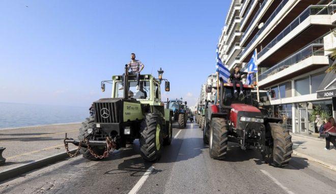 Συλλαλητήριο αγροτών στην Θεσσαλονίκη