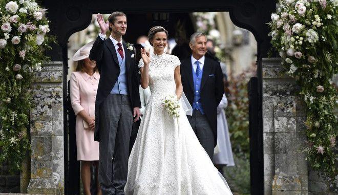 Φωτογραφία από τον γάμο της Πίπα Μίντλετον με τον επιχειρηματία Τζέιμς Μάθιους