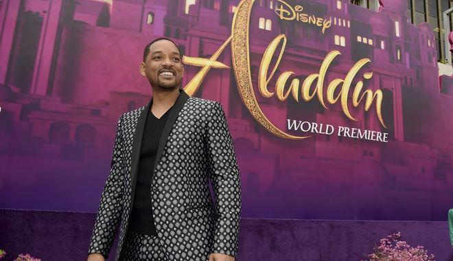 Ο Will Smith στην πρεμιέρα της ταινίας Aladdin