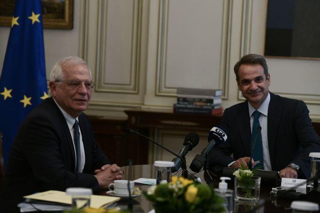 Απο την συνάντηση του Κ.Μητσοτάκη με τον Ζ.Μπορέλ