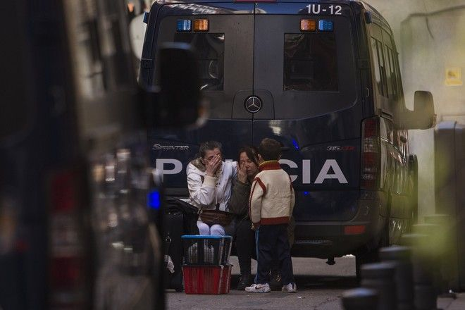 Στιγμιότυπο απο έξωση στη Μαδρίτη, Ισπανίας