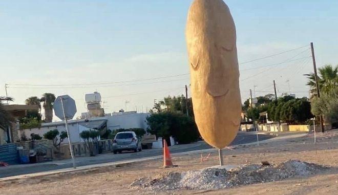 Το μνημείο πατάτας στην Ξυλοφάγου Κύπρου
