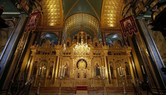 Interior view of historical Bulgarian Sveti Stefan Church, or
