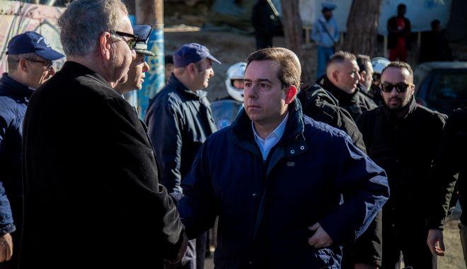 Επίσκεψη του υπουργού  Μετανάστευσης και Ασύλου, Νότη Μηταράκη στην Σάμο την Κυριακή 19 Ιανουαρίου 2020