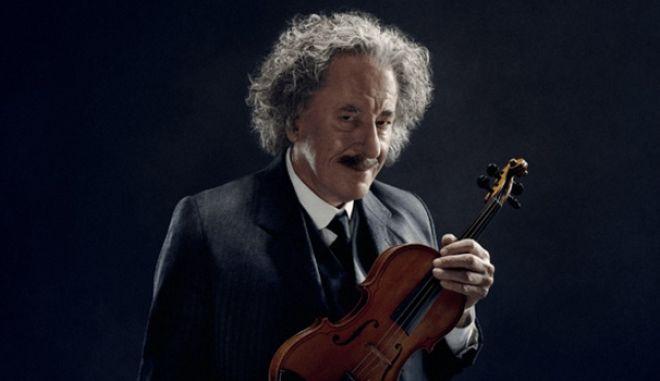 Ευφυέστατο! Ο Τζέφρι Ρας ως Αϊνστάιν παίζει με το βιολί του Lady Gaga