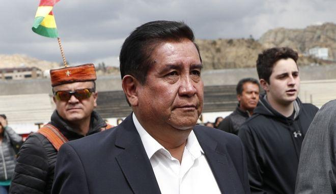 Ο πρόεδρος της Βολιβιανής Ποδοσφαιρικής Ομοσπονδίας (FBL) Σέσαρ Σαλίνας