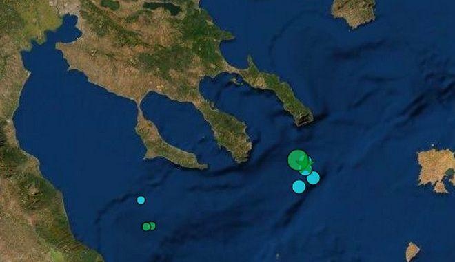 Σεισμός 5,2 ρίχτερ ανοιχτά της Χαλκιδικής